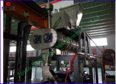 double screw extruder with preconditioner